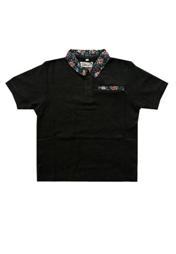 KAMDAR black Boys Polo T/shirt 0FCA8KA1FF4ADBGS_1