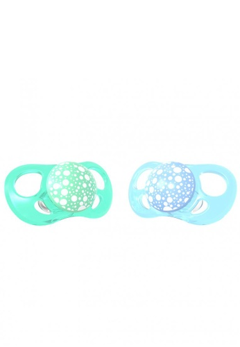 Twistshake Twistshake 2X Pacifier Pastel Blue Green 6+M 71BB3ES1FC7B77GS_1