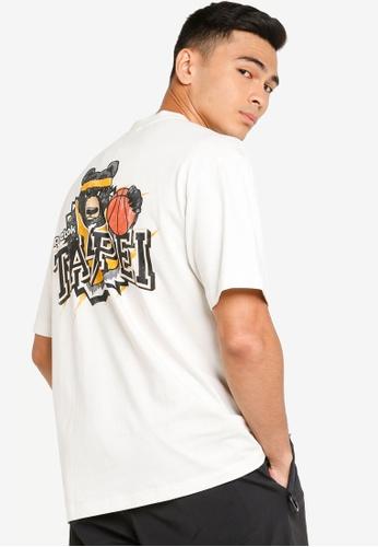 Reebok 米褐色 經典Stepover 短袖T-襯衫 6E542AAAB0D35CGS_1