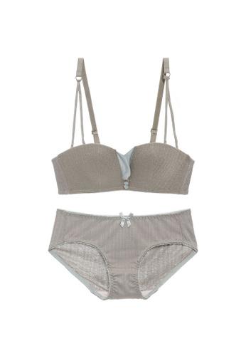Midnight 綠色 Premium Lace Green Lingerie Set (Bra and Underwear) 43584USC86751BGS_1