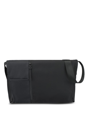 ZALORA black and grey Square Panel Messenger EE432ACD1C8370GS_1