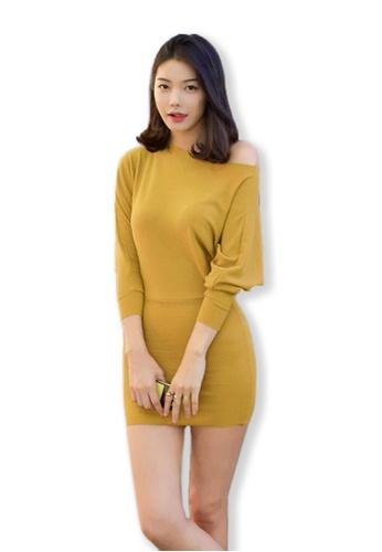 Sunnydaysweety yellow F/W Yellow Dolman Sleeve Dress UA082810YE SU219AA0FLVJSG_1