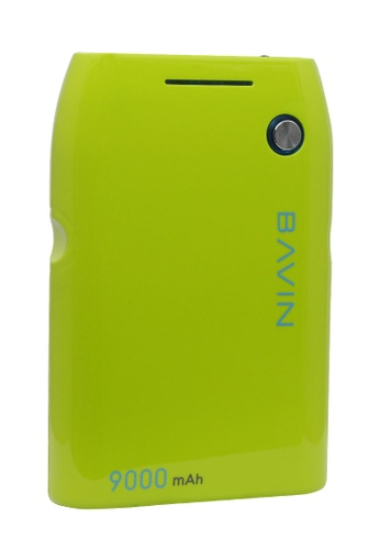 BAVIN green Portable Powerbank 9000mAh with Light Indicator DB031ACB921AEAGS_1
