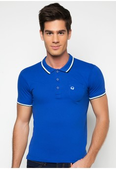 Boy's Slim Fit Basic Polo Tee with Tipping