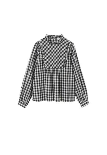 MANGO KIDS black Gingham Check Cotton Shirt C4341KACAC85E3GS_1