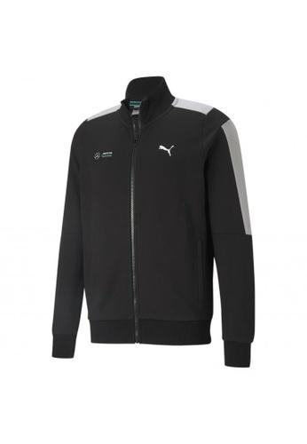 PUMA black PUMA Mercedes F1 T7 Sweat Men's Jacket 265FBAA7F06C8DGS_1