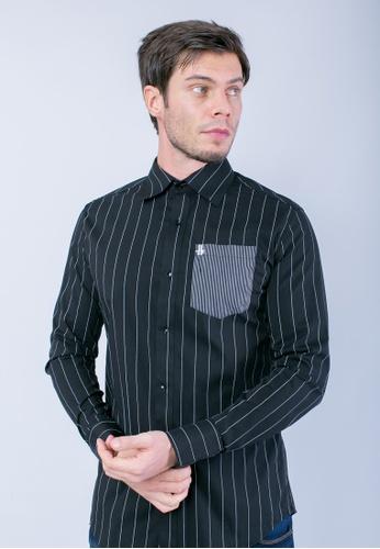 H2 by LEEYANARAHMAN black and white Raizo Shirt of Noir LE767AA0T0PJMY_1