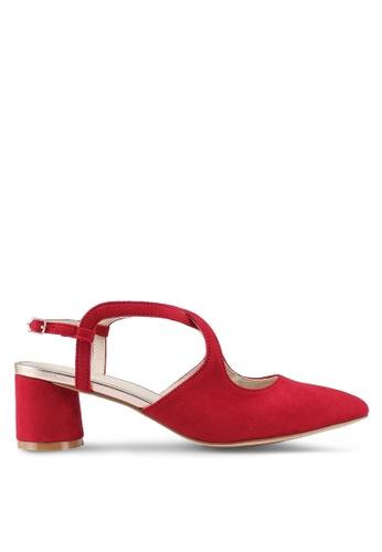 Velvet red Round Heels Pump A7BC9SHE9DD620GS_1