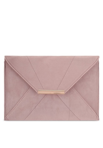 Dorothy Perkins brown Mink Envelope Clutch Bag E00CAACB3A7881GS_1