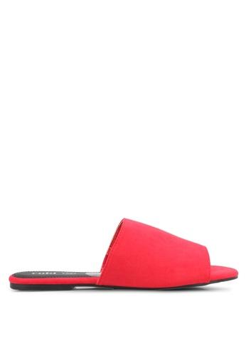 Rubi red Sleek Slide Sandals RU506SH0T09FMY_1