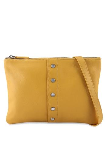 agnès b. yellow Front Buttons Detail Sling Bag 727EFAC014EE50GS_1