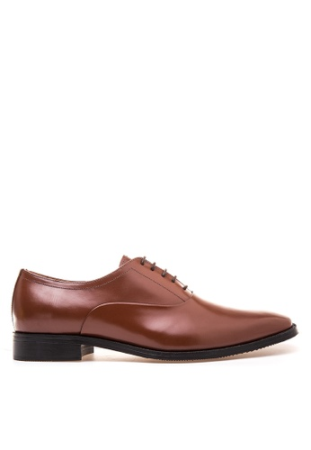 Bristol Shoes brown Bancroft Brown Plain Toe Oxford BR842SH70KCFPH_1