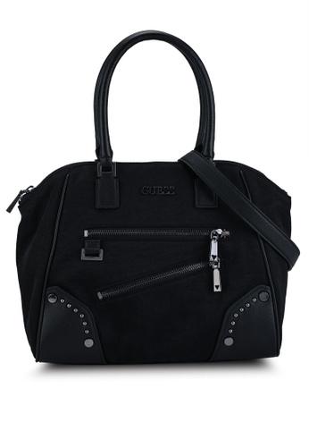 Guess black Frankie Uptown Satchel Bag D6341AC5B0C9B2GS_1
