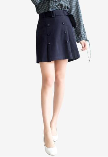 Tokichoi blue Belted Button Detailed Skirt C51A2AA4E4E834GS_1