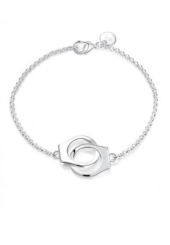 Glamorousky silver Simple Handcuffs Bracelet DB658AC1B112BAGS_1