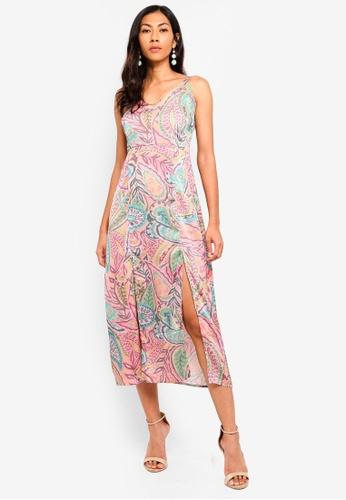 e281552028866 Buy Glamorous Printed Slip Midi Dress Online on ZALORA Singapore