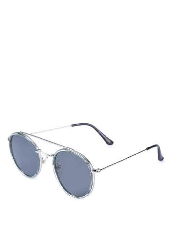 Rubi green Demi Top Bar Metal Sunglasses D32AAGLD60A3D0GS_1