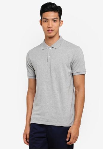 GAP grey Pique Polo Shirt E8EEAAAD8DF1CBGS_1