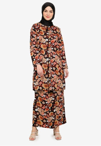 Baju Kurung Pahang from Azka Collection in Black