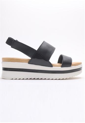 Crystal Korea Fashion black Korean-made Summer Natural Leather Sandals 8A49CSHF0921F9GS_1