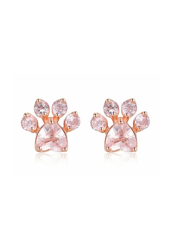 Kings Collection gold Footprints Zircon Earrings 42639ACD81E5ACGS_1