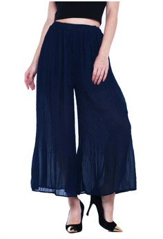 Calf Length Skirty Pleated Bottoms