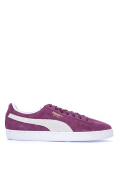 Puma purple Suede Classic Lace-up Sneakers 626ACSH5796AD8GS_1