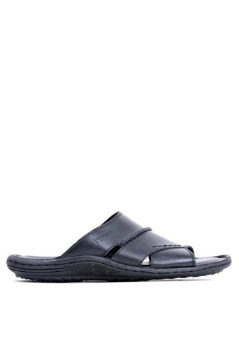 Tony Perotti black Tony Perotti Sandals Eddie - Black D1294SHC765E53GS_1