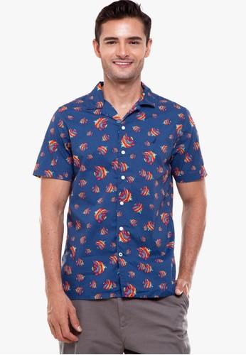 Nautica blue S/S Print Shirt E9311AA6236449GS_1