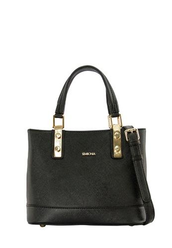 SEMBONIA black SEMBONIA Synthetic Leather Tote Bag (Black) SE598AC0SBBZMY_1