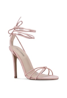 f6ceb9c6f2ff 18% OFF Public Desire Fleur Barely There Lace-Ups Heels S  59.90 NOW S   48.90 Available in several sizes
