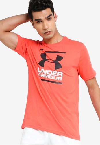 Under Armour red UA Gl Foundation Short Sleeve Tee 64537AAD7EF054GS_1