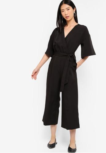 ZALORA BASICS black Basic Kimono Jumpsuit 73969AAEE82D53GS_1