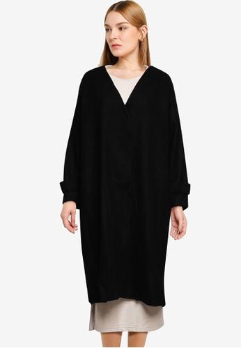 GLOBAL WORK black Casual Woven Coat 6B65FAA43BD098GS_1
