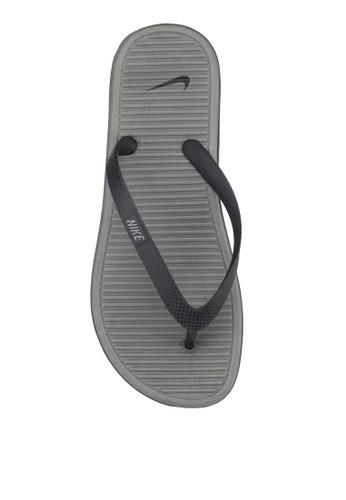 Nike grey Solarsoft Thong 2 1DF23SH028C27BGS_1