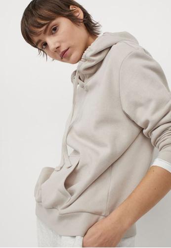 H&M beige Hooded Top 944BBAA0D047E5GS_1
