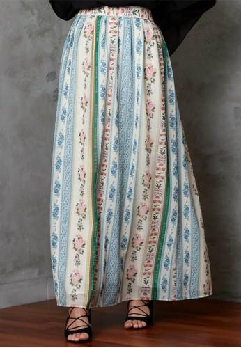 Vivi Zubedi beige MMJ Printed Skirt 1A054AAD7E057CGS_1
