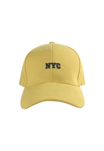 DRUM yellow NYC Emboideried  Cap- YELLOW 712EEACAA5CC46GS_1