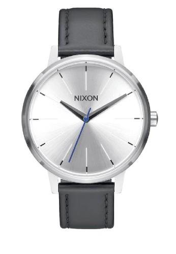 Nixon black KENSINGTON LEATHER SILVER/BLACK/BLUE B8523AC335BD46GS_1