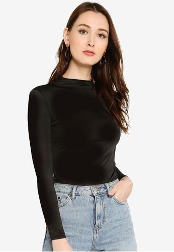 UMMA black Bodee High Neck Long Sleeves Inner CA4B8AA1216BC6GS_1