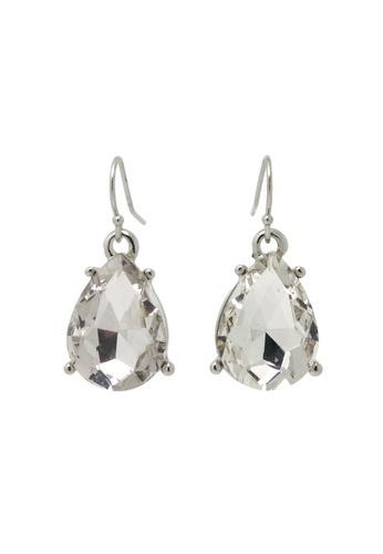 Jaysa Collection silver Light Glamour Teardrop Earrings JA875AC70PMNSG_1