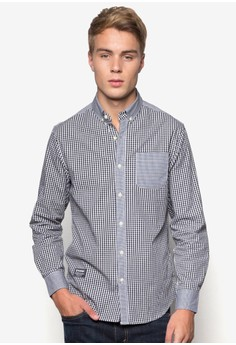 Playboy Checked Woven Long Sleeve Shirt