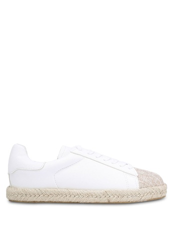 Velvet white Lace Up Espadrille Trainers 66589SH4C06457GS_1