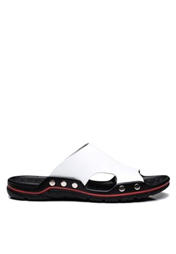 Twenty Eight Shoes 白色 簡約牛皮拖鞋 VMS8286 02DEDSH1356EF3GS_1