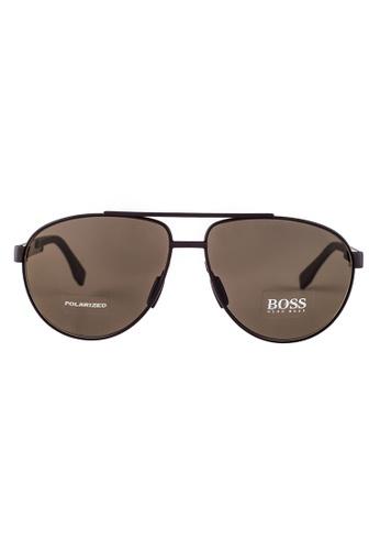 Hugo Boss brown HUGO BOSS Aviator Brown Polarized Sunglasses 0752FS HU898AC32OWLMY_1