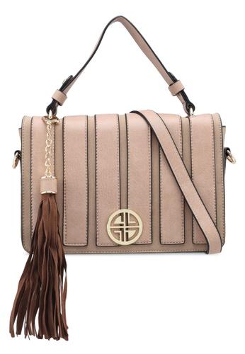 Carlton London beige Cadia Crossbody Bag 60539ACE0916D4GS_1