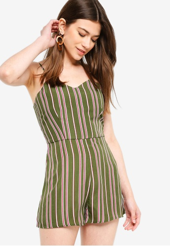 d776324311273 Buy Something Borrowed Pleated Cami Romper Online on ZALORA Singapore