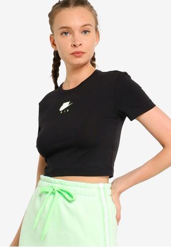 Nike black AS Women's Sportswear Air Crop Top 47990AA9D3FF9DGS_1