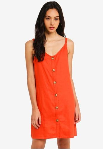 Cotton On orange Woven Margot Slip Dress 444D6AA7E2E982GS_1