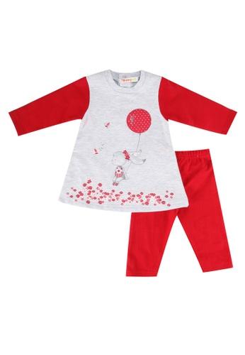 Babybol red Baby's Dress And Leggings Set B693FKA0A99531GS_1
